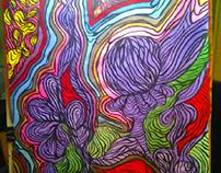 """Sorcerous Flora"" ( 50x70, bristol,acrylics)"