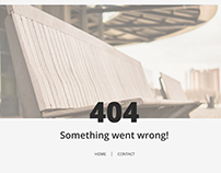 404 page concept.