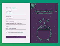Witchy Sign Up Form