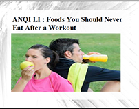 ANQI LI - Foods You Should Never Eat After a Workout