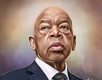 John Lewis Digital Painting by Wayne Flint