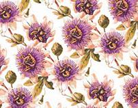 Projeto Estamparia Floral - Flor de Maracujá