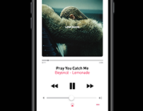 iOS 10 Music Player Mock-Up (Free Download)