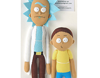 Rick and Morty plushies
