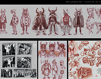 RED and BLUE ONI: concept art