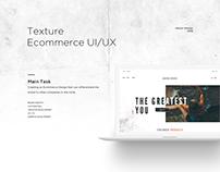 Textured Ecommerce Web Design