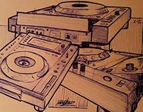Pioneer CDJs sketches