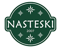 Nasteski Dooel logo and packaging design