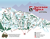 Jackson Hole Illustrated Map (School Project)