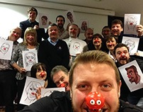 Red Nose Day Caricatures 2015