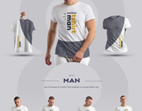 24 MockUps Mans T-Shirt (3 free). Body/3D/obj