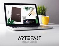 ARTEFAKT web page design