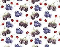 Watercolor Berries - Pattern Design