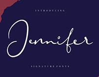 FREE | Jennifer Signature Script Font