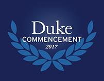 Duke Commencement branding
