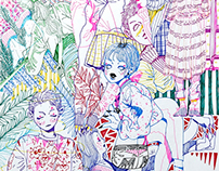 Pen drawings, 2016