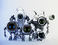 Robotic ufo famly