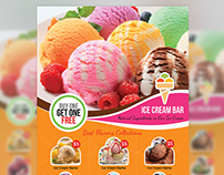 Ice Cream Shop Flyer Template