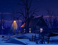 Winter night/day