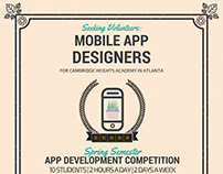 App Dev Competition Volunteers Flyer