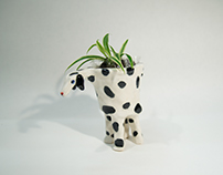 Dotted Dog Planter