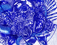 """Untitled"" (Blue Snake)"