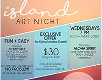 Business Flyer - Island Art Night