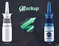Nasal Spray Bottle Mockup