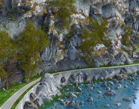 Cartoon Curving Road
