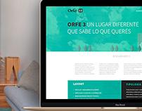 Orfe3.com. Web Design. Landing page