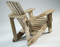 Free 3D Model Adirondack Chair weathered