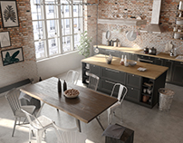 Industrial apartment | VIZN studio
