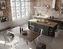 Industrial apartment | VIZN studio