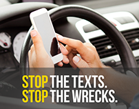 Stop Texts Stop Wrecks | Tumblr for The Ad Council