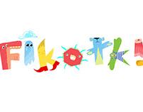 Fikołki / Flips - logo/character design
