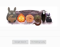 Hayao Miyazaki Google Doodle