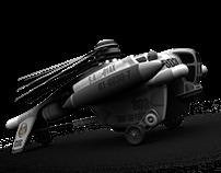 155mm gunship (old modeling)