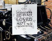 The Design Letterpress Posters