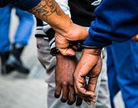 Cape Town Taxi Rank - Police Raid