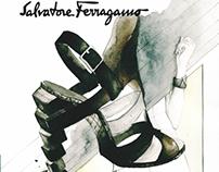 Salvatore Ferragamo Fashion Accessory Illustration