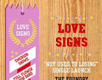 Gig Poster - Love Signs