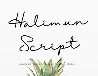HALIMUN SCRIPT - FREE HANDWRITTEN FONT