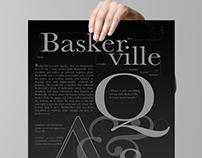 Baskerville Type Poster