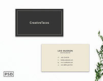 Free Sober Minimal Business Card Template