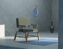 alvar armchair | shading, light and render