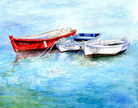 Watercolour paintings by Gail Yerrill