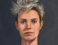 Portrait, digital painting
