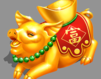 Gold Chinese Pig