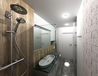 Bathroom (3.5m2) - Apartment for rent - Gdańsk, Poland