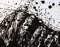 "16""x20"", Untitled Splatter-scape, 2010"